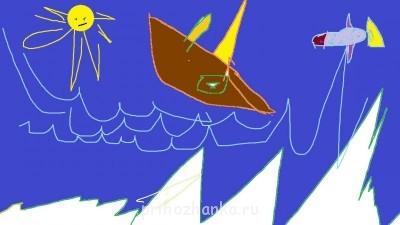 Рыбка, море, айсберги, корабль - рыбка.jpg