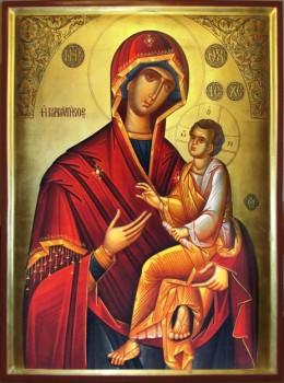 Список с чудотворной иконы Скоропослушница , написанный монахами афонского монастыря Дохиар - сжатая.jpg