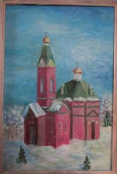 храм - 4. «Храм  в моей Куеде»     - холст-масло.               40Х50         Февраль 2011.jpg