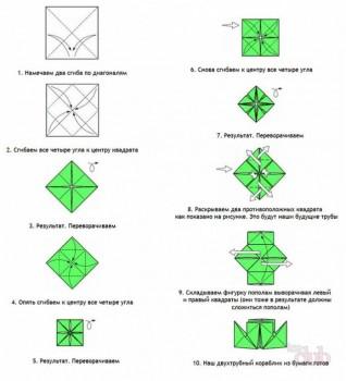 Оригами - shema-dvuhtrubnogo-korablika-iz-bumagi.jpg