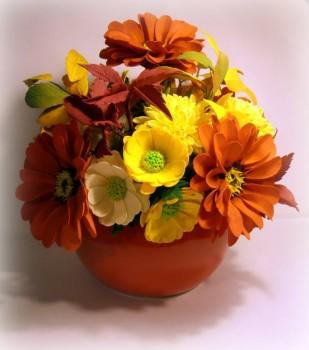 Рукотворные цветы в интерьере. - BYccrXVoC_g.jpg