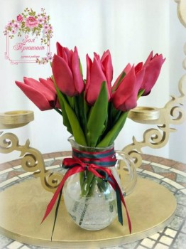 Рукотворные цветы в интерьере. - f5qsvcQZuBM.jpg