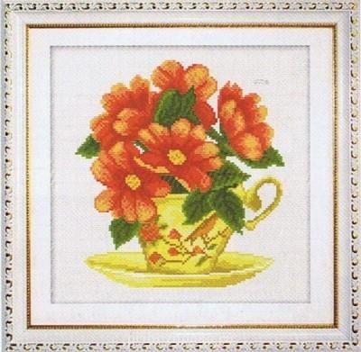 Цветы. Схемы вышивки - chai_tsvety (1).jpg