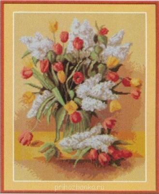 Цветы. Схемы вышивки - buket_tylip_.jpg